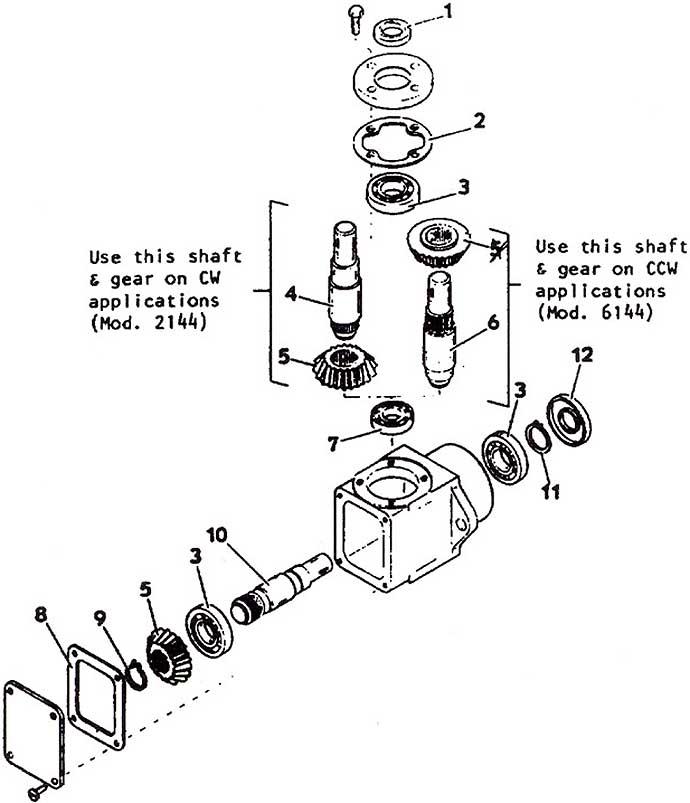 Model 2144 Front Mount Deck, 1985- Grasshopper Mower Parts