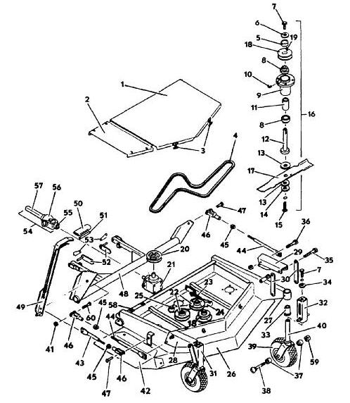 6144 Deck Model 1986 Year Mower Assembly Parts & Diagram