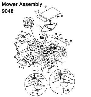 9048 / 9052 / 9061 Grasshopper Mower Deck, 1992 Parts
