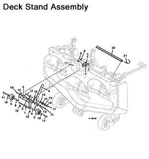 Grasshopper Parts Diagrams 9861 Front-Mount Deck 2000
