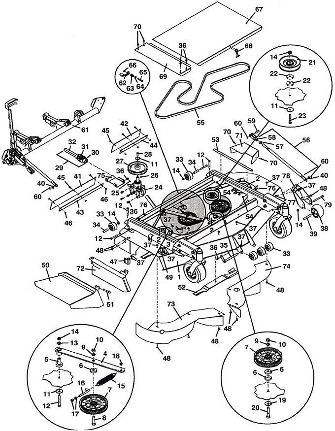 Grasshopper Parts Diagram 9861 Deck Mower Assembly 2001