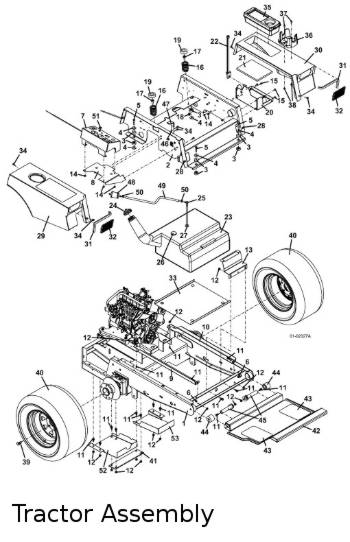2003 Grasshopper model 325 Mid-Mount Mower Parts Diagrams