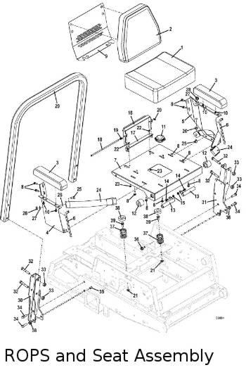 325D 2010.5 Mid-Mount Mower Parts Diagrams- The Mower Shop