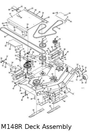 M1 Rear Discharge 2012 Grasshopper Lawn Mower Parts