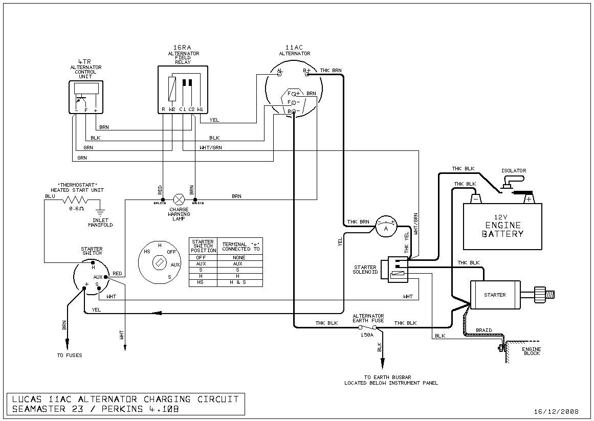 lucas alternator wiring diagram xfinity network a127 gallery