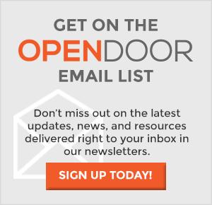 OPEN DOOR email list signup