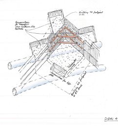 foundation construction part of a sequence by ron slade pencil on paper [ 1200 x 848 Pixel ]