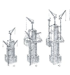 tall building an early construction sequence by ron slade pencil on paper [ 1370 x 759 Pixel ]