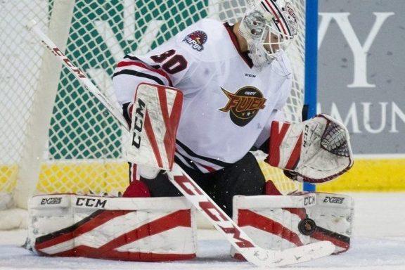 The Rink tomkins-1-e1540484240267 Fuel's Matt Tomkins Named ECHL Goaltender of the Week Matt Tomkins Indy Fuel