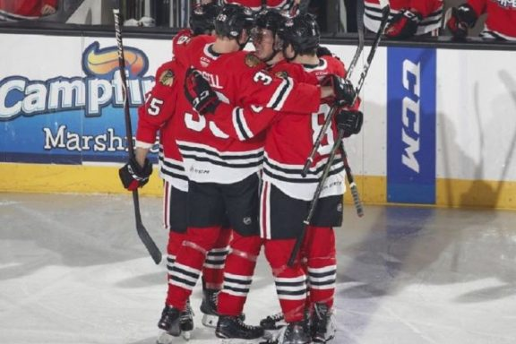 The Rink Capture5-e1542141187141 Rockford IceHogs Continue Road Trip, Injuries, And Recalls Rockford IceHogs gustav Forsling Collin Delia Chicago Blackhawks Anton Forsberg