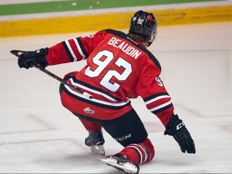 Beaudin Celebrates first goal since October