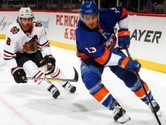 Barzal and Keith Hawks vs. Isles