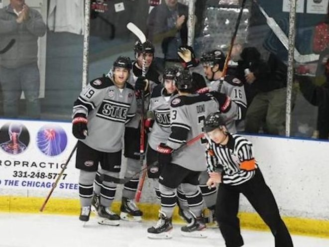 Chicago Steel split weekend with Muskegon Lumberjacks