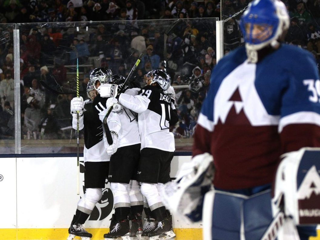 Avalanche downed by Kings 3–1 in chaotic Stadium Series game for fans