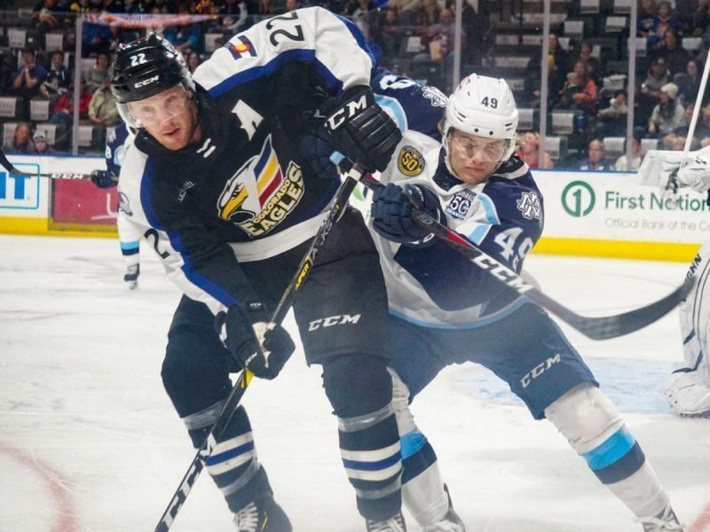 Eagles split the series against the Admirals