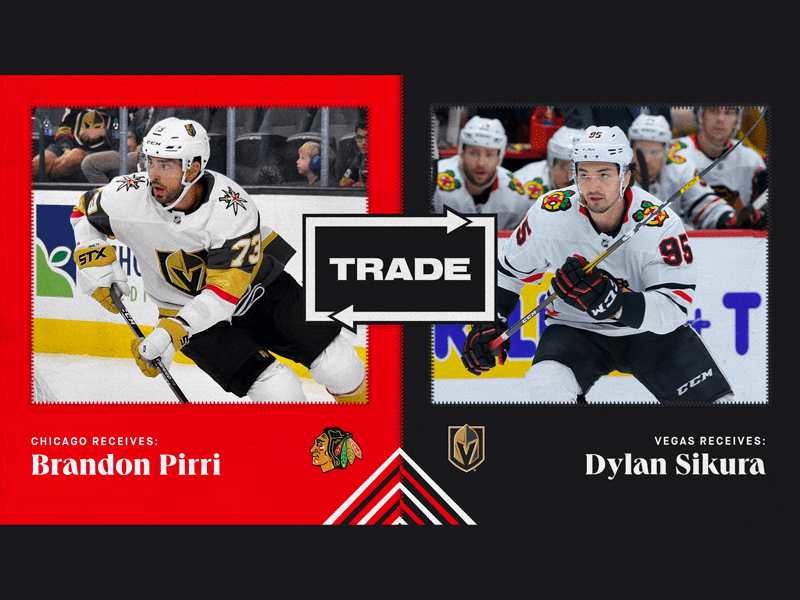 BREAKING: Blackhawks trade Dylan Sikura to Vegas for ex-Blackhawk Brandon Pirri