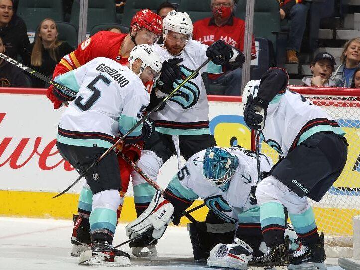 RECAP: Kraken beat Calgary 4–3 in shootout, Giordano bites his former team