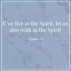 live in the spirit and walk in the spirit