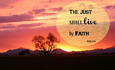 the just, continue in the faith