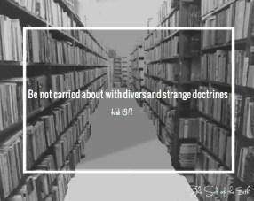 divers and strange doctrines
