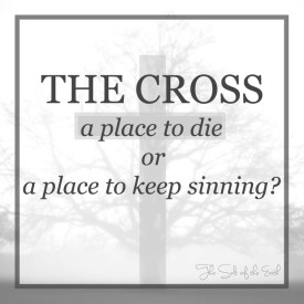 The cross a place to die or a place to sin