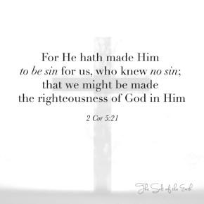 Jesus was made sin