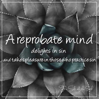 reprobate mind delights in sin