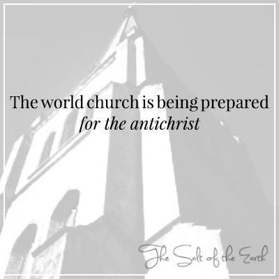The world church is being prepared for the antichrist