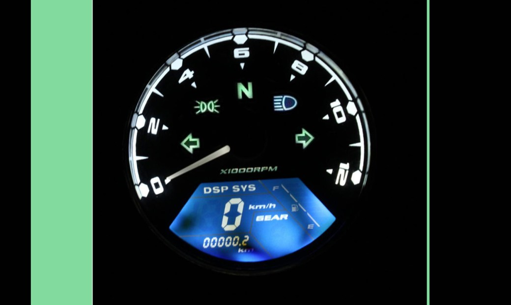 DIGITAL SPEEDO 12.000 RPM