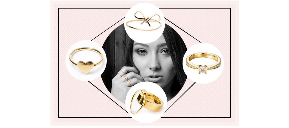 Goldstcke  15 goldene Ringe die eure Fingerchen