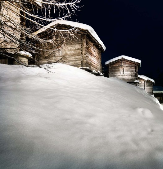 Saas-Fee log cabins. Photo: Matterhorn Region AG - Saas-Fee-Saas-Fee won the Marketing Trophy thanks to its crowdfunding campaign