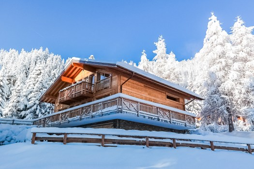 Exterior of one of the chalets of Crans Luxury Lodges, Crans Montana