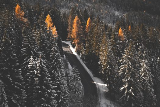 Snowy road - Photo Daniel Plan - Unsplash