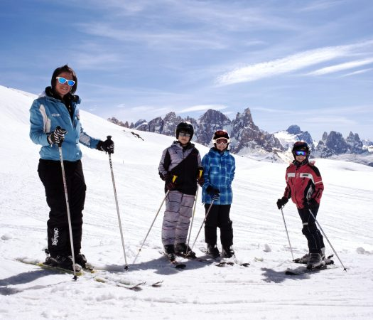 Val di Fiemme pistes are family friendly. Photo by Val di Fiemme.