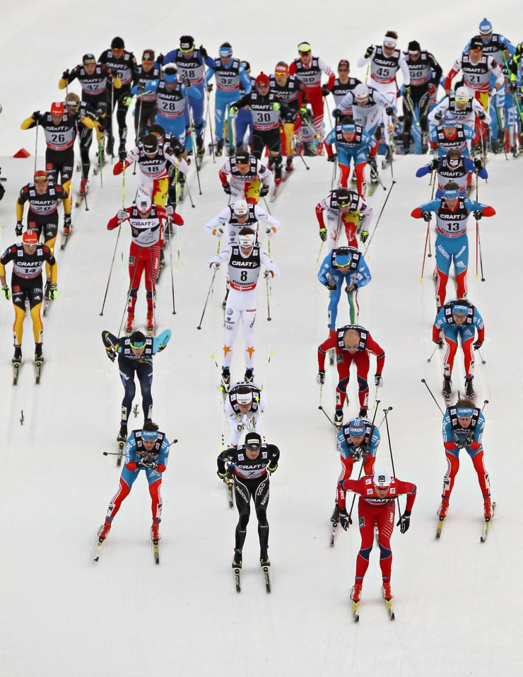 Marcialonga- classic meeting of the cross country community, a great event to attend in Val di Fiemme. Photo by Val di Fiemme.