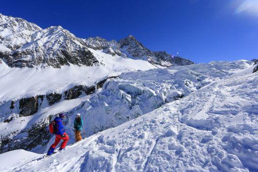 Les Grand Montets Glacier - near Chamonix.