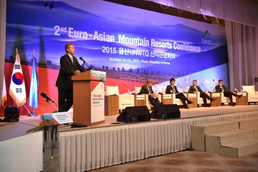 Laurent Vanat at the UNWTO 2nd Euro-Asian Mountain Resorts Conference. Photo copyright of Laurent Vanat.