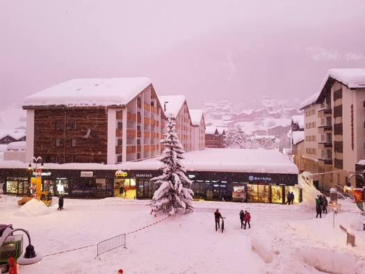 Zermatt this morning - photo from the Zermatt's Facebook page.