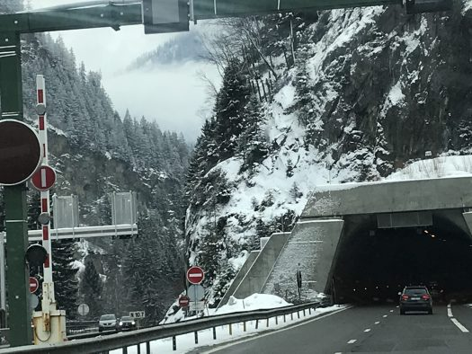 Autoroute du Mont Blanc - one of the nicest parts of the road. Photo by The-Ski-Guru.