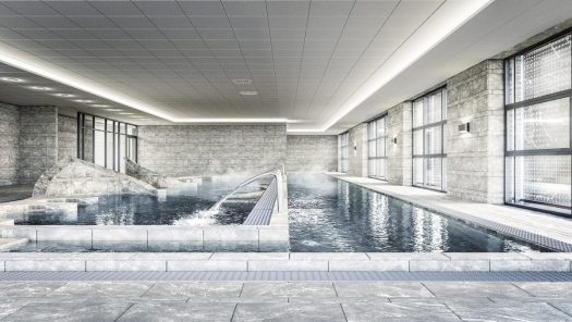 Pool at the new Grand Spa Thermal at Brides Les Bains opening later in March. Photo by Brides-les-Bains Tourism Office.