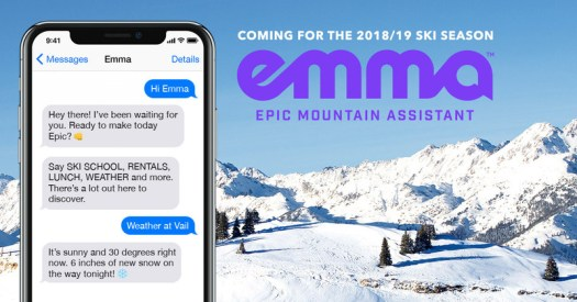 Emma, the World's First Digital Mountain Assistant, Kicks Off the 2018-19 Winter Season in Beta at Keystone Ski Resort (PRNewsfoto/Vail Resorts, Inc.)
