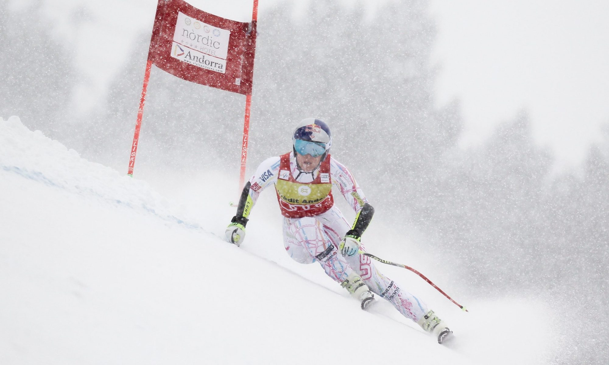 SOLDEU, ANDORRA - FEBRUARY 27: Lindsey Vonn of USA competes during the Audi FIS Alpine Ski World Cup WomenÕs Super-G on February 27, 2016 in Soldeu, Andorra. (Photo by Alexis Boichard/Agence Zoom)