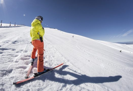 Spring skiing at its best at Sierra Nevada, Spain. Sierra Nevada has 70 km of open pistes until the end of this ski season. Borreguiles area.
