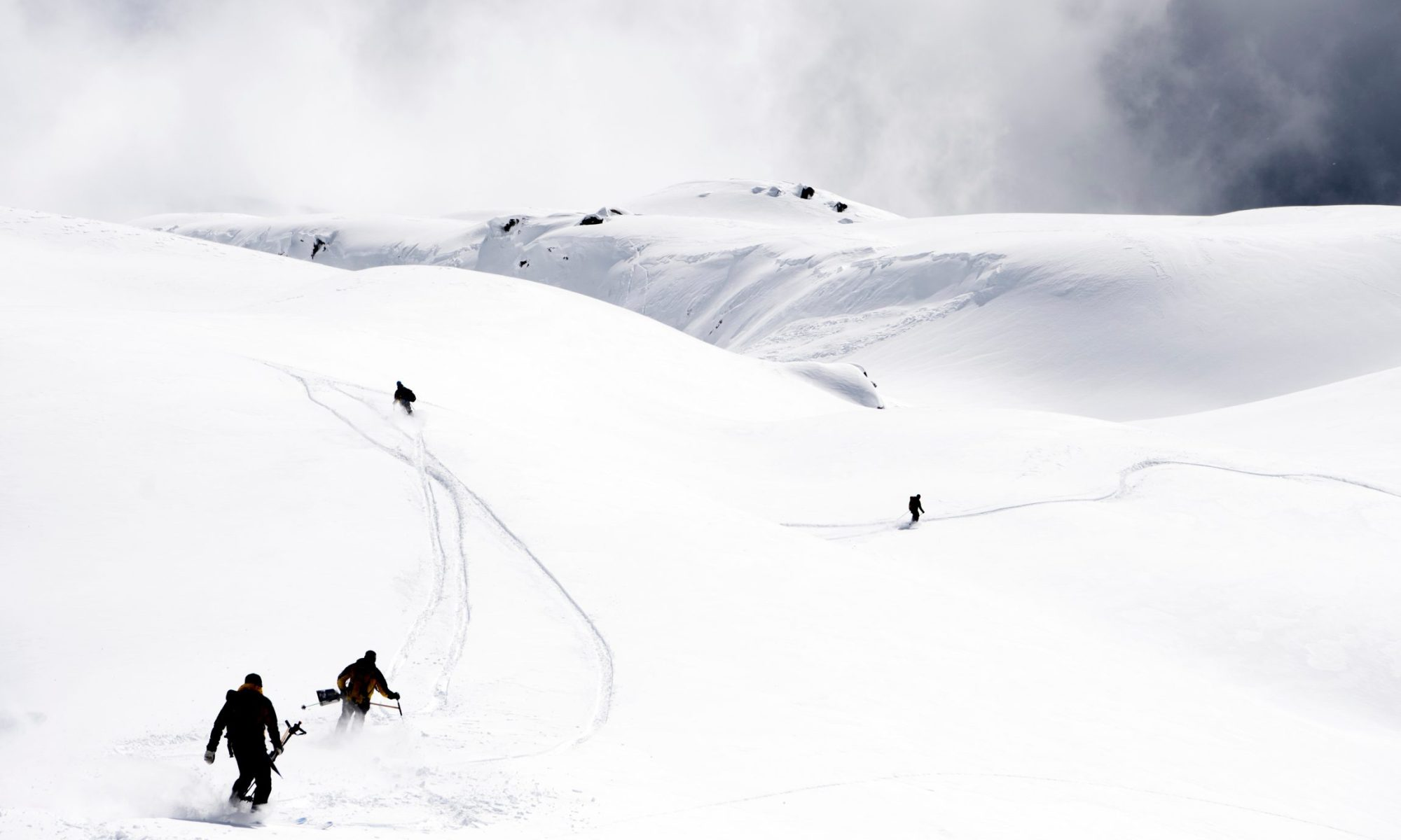 Photo by JEAN-CHRISTOPHE BOTT/EPA-EFE/REX/Shutterstock (9488635h) Rescue crews move into direction of the avalanche site to search for five hikers who were carried away on 31 March by an avalanche in Obers Taelli over the Fiescheralp, in Fiesch, Switzerland, 01 April 2018. An avalanche reportedly 'carried away' five people on 31 March in Fiesch in the Swiss Upper Valais region. Police said on 01 April that three persons were killed and two others were injured. Rescue works after avalanche in Swiss Alps, Fiesch, Switzerland - 01 Apr 2018. Three Spaniard Skiers have died and two others are injured in Switzerland after an avalanche.