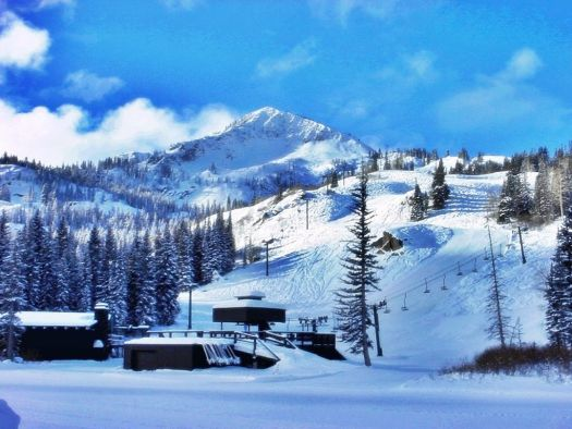Brighton Ski Resort in Big Cottonwood Canyon near Salt Lake City. Utah. Boyne Mountain Resorts acquires six mountain resorts
