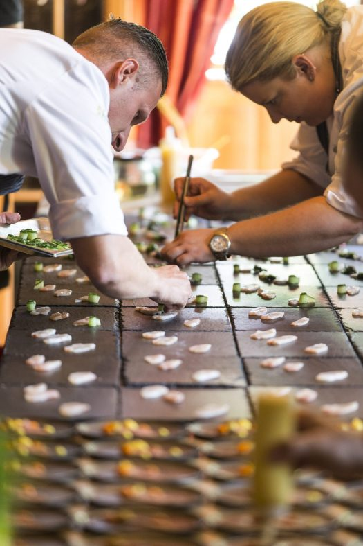 Perfection down to the last detail - many of the gourmet creations are being developed by the chefs for the 4th Culinary & Art Festival St. Anton am Arlberg Photo credits: TMC / K & K