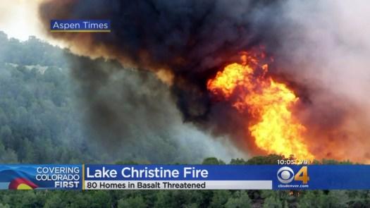 Lake Christine News- Aspen Times photo.