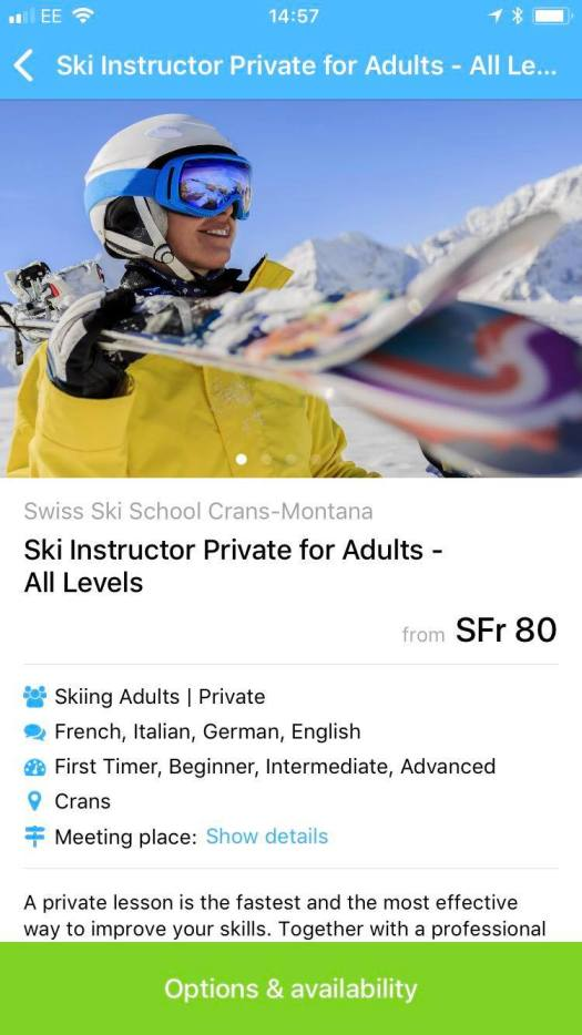 When you find who would best suit you as a Ski or Snowboard instructor with CheckYeti, you just click and finish the transaction. No more hoping that you will have a good instructor- now you can choose in advance!