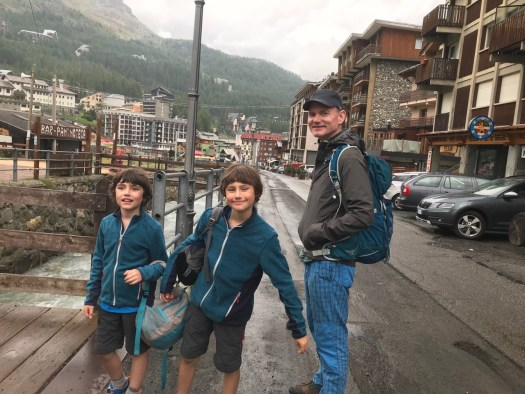 Back in town in Cervinia, just before the storm started. At least we had a small taste of it and it got us to want more. A trekking day with the family. Photo: The-Ski-Guru.