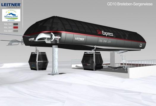 Dolomiti Superski- Gitschberg-Jochtal new cabin - lift ski express.